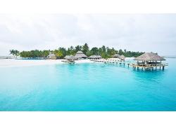 优美美丽海滩海岛沙滩小度假岛屿景观美景高清图片