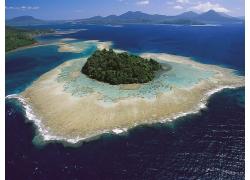优美美丽海滩沙滩小岛屿景观美景高清图片