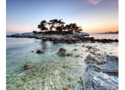 优美美丽沙滩海滩小岛美景高清图片
