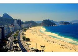 海邊的城市景象
