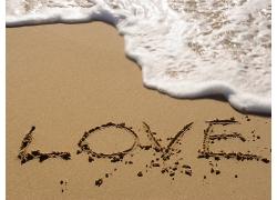 美丽海水海浪大海海边海滩沙滩沙雕景观美景高清图片