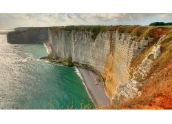 优美美丽大海海边悬崖峭壁景观美景高清图片