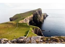 优美美丽海滩悬崖景观美景高清图片