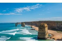优美美丽沙滩海滩小岛景观美景高清图片