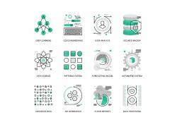 网络系统数据图标UI素材