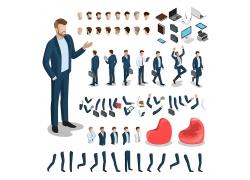 商务人士身体部分结构图像