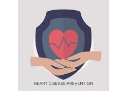 预防心脏病盾牌素材图