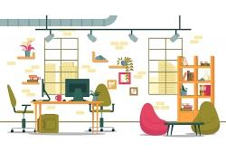 手绘办公室环境