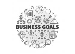 商务目标矢量图