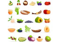 卡通水果蔬菜图标图案