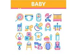 婴儿相关图标设计