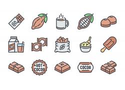 棕色巧克力卡通图标