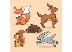 清新插画风动物形象装饰插画