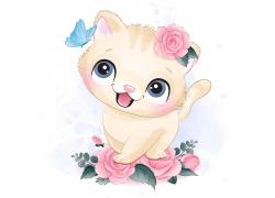 创意精美可爱猫咪卡通形象矢量插画元素