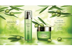 女性化妆品美容护肤品商业淘宝购物电商海报