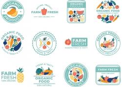 清新水果元素主题矢量插画设计