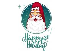 圣诞节圣诞老人主题矢量插画设计