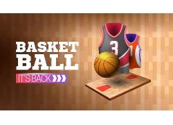 篮球运动主题矢量插画设计