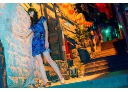 穿旗袍的女性人物摄影
