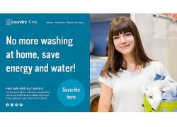 洗衣服主题海报设计