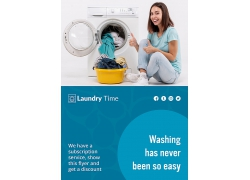 洗衣服洗衣机主题海报设计