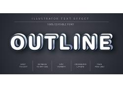 创意英文主题字体样式设计