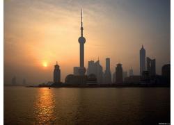 上海浦東區城市景色