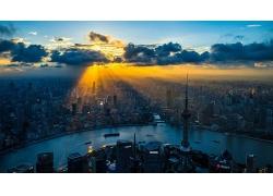 上海城市的黎明