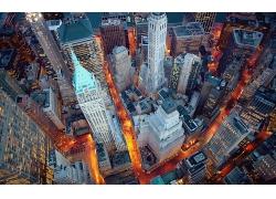 俯瞰紐約城市金融中心