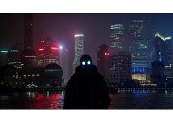 上海金融城市夜景