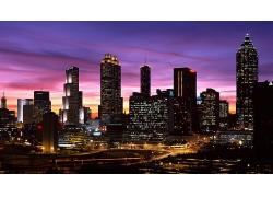 亞特蘭大城市夜景