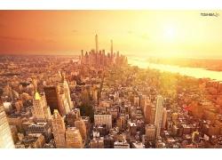 紐約市城市夕陽