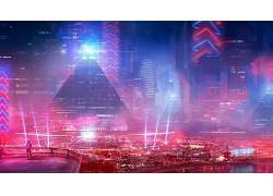 科幻小說城市場景
