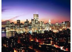 世界貿易中心雙子塔夜景