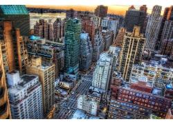 紐約市金融中心景色