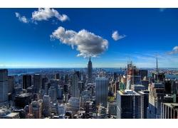 晴朗天空的紐約城市