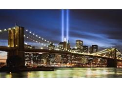 紐約市跨海大橋夜景