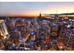 紐約市帝國大廈夜景
