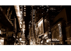 紐約市城市夜景
