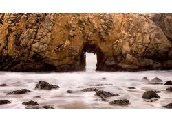 海岸线风景壁纸