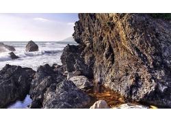 海岸线高清风景壁纸