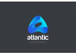 蓝色渐变矢量企业logo模板