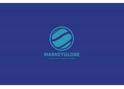 蓝色矢量科技logo模板