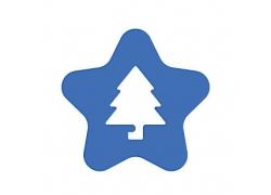 圣诞树星星主题矢量UI图标LOGO设计
