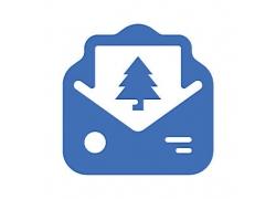 信封贺卡主题矢量UI图标LOGO设计