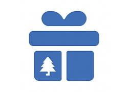 礼物盒主题矢量UI图标LOGO设计