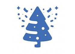 圣诞树主题矢量UI图标LOGO设计