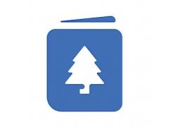 树主题矢量UI图标LOGO设计