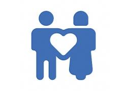 男女组合心形主题矢量UI图标LOGO设计