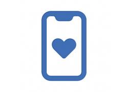 心形手机界面主题矢量UI图标LOGO设计